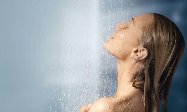 luke warm water shower