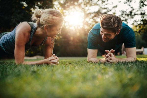 exercise with spouse