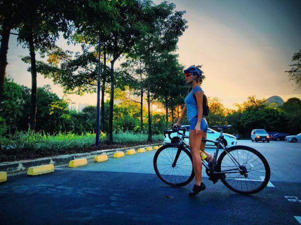 celebrity workout cycling exercise